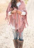 Suede Fringe Shawl | 6 Colors