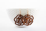 Rose Wood Earrings | 2 Colors