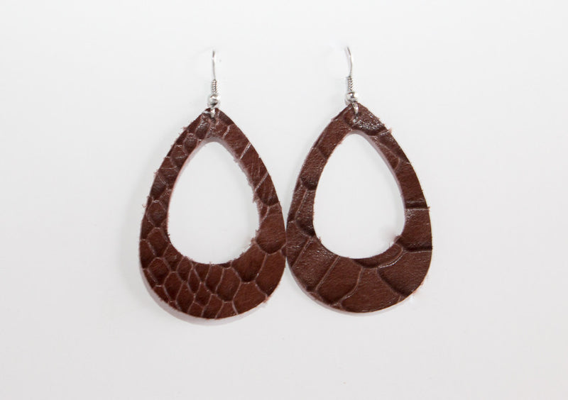 Leather Cut-Out Earrings