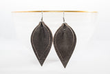 Leather Double Leaf Earrings | 6 Colors