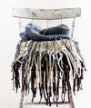 Long Knit Fringe Scarf