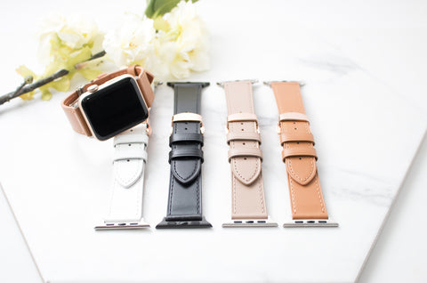 Stella Studded Leather Apple Watch Band