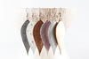 Leather Feathered Earrings | 6 Colors