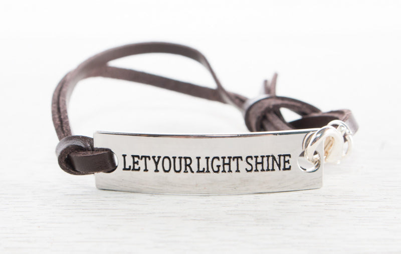 Inspirational Stamped Leather Bracelets