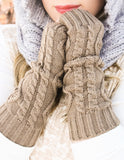 Long Knit Fingerless Gloves | 7 Colors