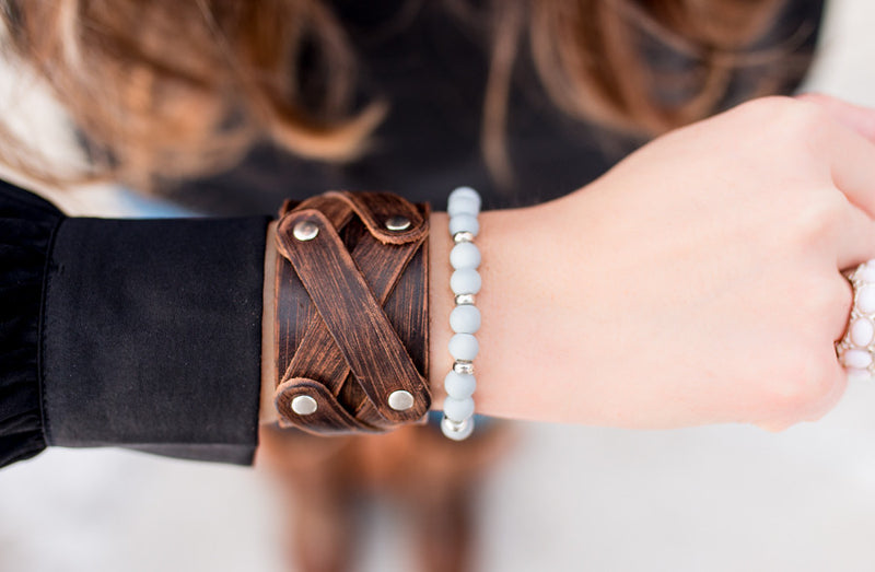 The Studded Leather Bracelet Collection