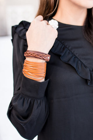 Genuine Leather Wrap Bracelets | 6 Colors