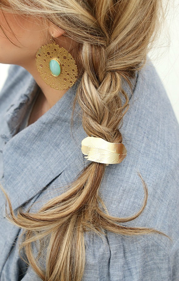 Leaf Cuff Pony Tail Holder