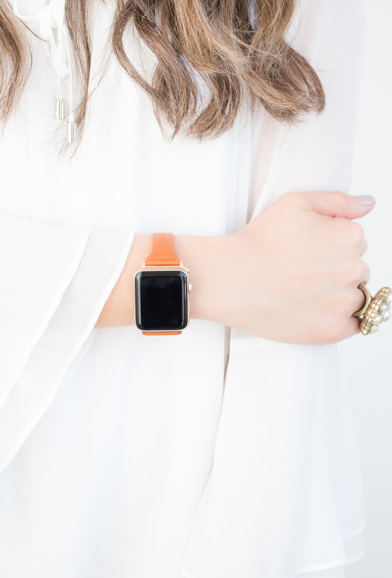 Skinny Leather Apple Watch Band