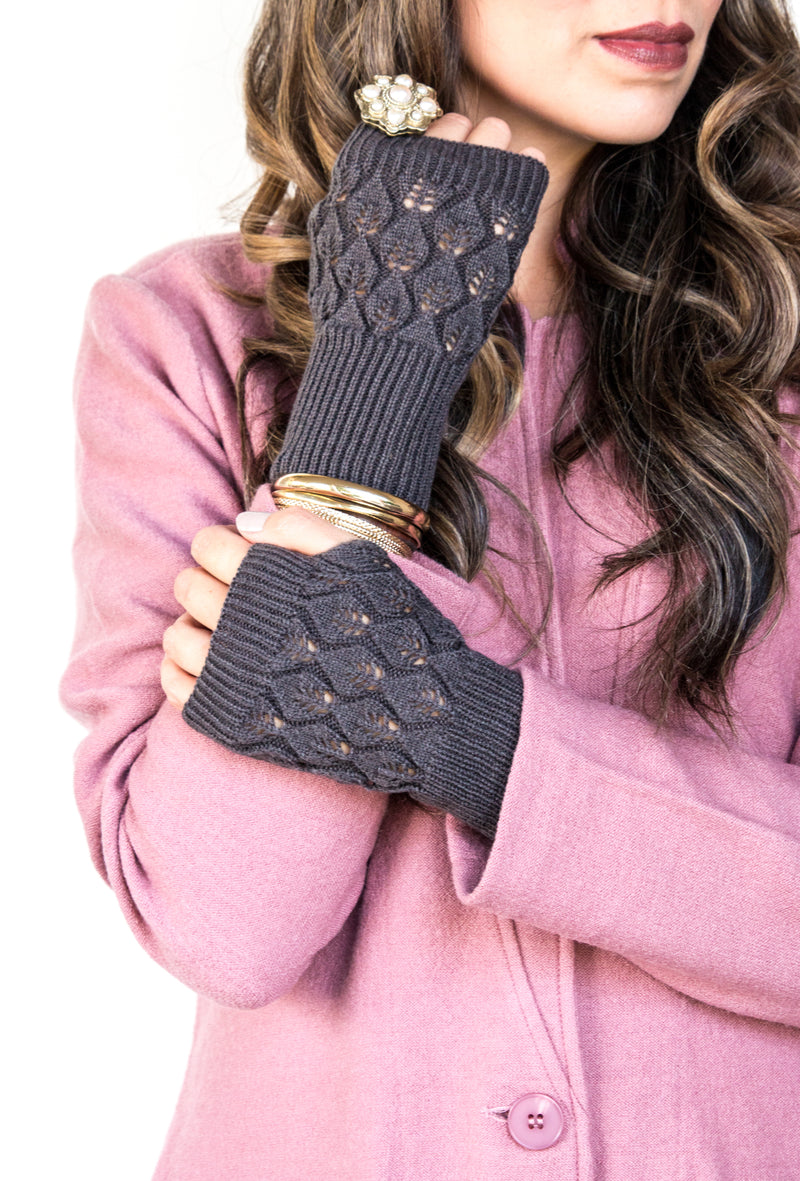 Knit Fingerless Gloves | 6 Colors