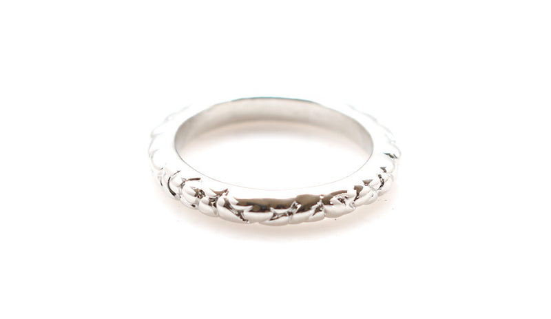The Carrie | Rhodium Plated Stacking Rings