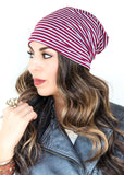 Striped Slouchy Beanie | 5 Colors