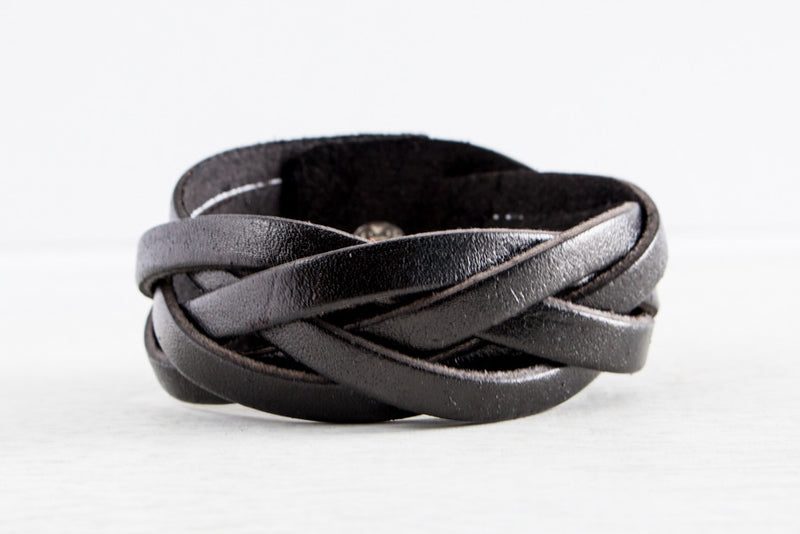 The Braided Leather Bracelet Collection