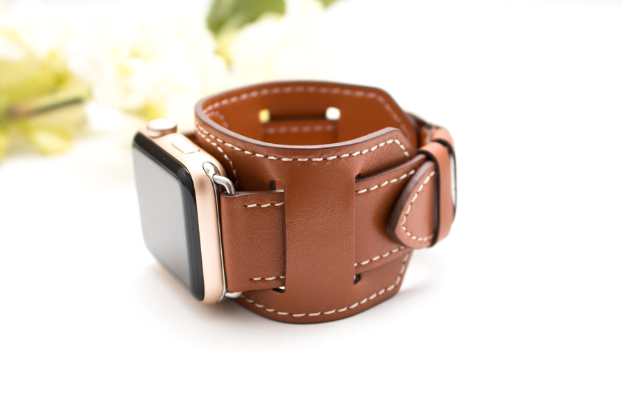 Double Leather Apple Watch Bands