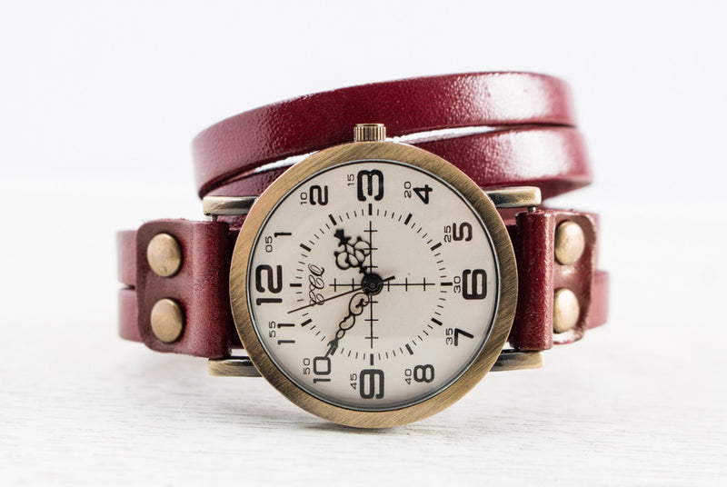 The Josephine | Vintage Leather Watch