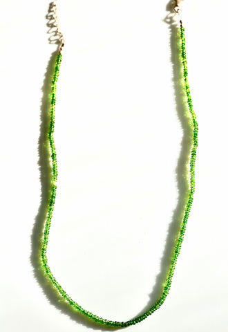 Chrome Diopside Beaded Necklace