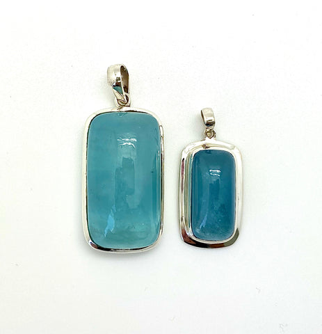 Aquamarine Cabochon Rectangle, Medium