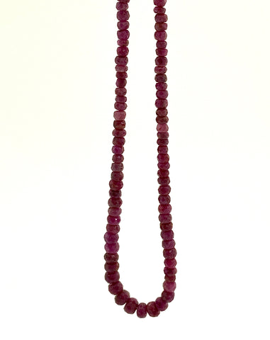 Ruby Beaded Necklace, Small