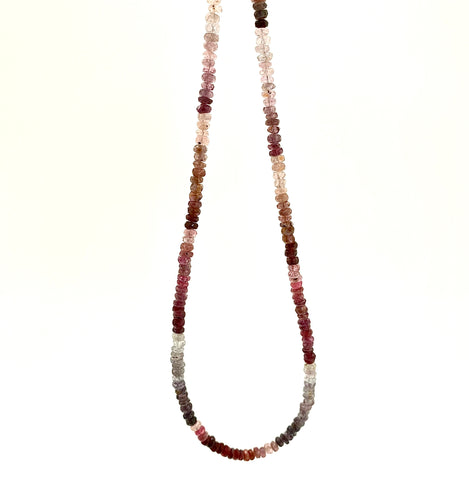 Multi Spinel Beaded Necklace Small