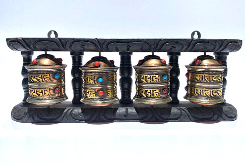 Tibetan Prayer Wheel, multiple wheels