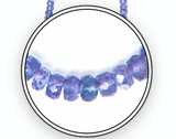 Tanzanite Beaded Necklace, Medium