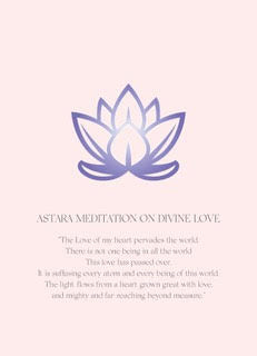 Astara Meditation on Divine Love Poster