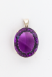 Amethyst Faceted Pendant, Large