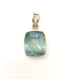 Aquamarine Faceted Pendant Large