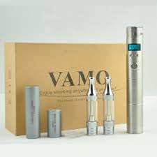 Mechanical Mod Vamo V8 Stainless Steel,VV 3-6V,7 Color LCD, Dual Coil BDC Atomizer 18350/18650 Batterys
