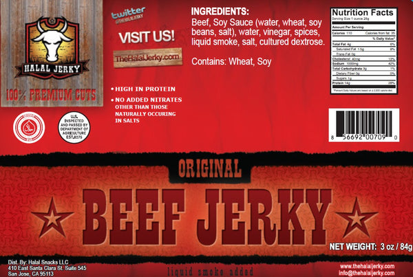 Original 4-pack (3 Oz Bag) - Halal Jerky