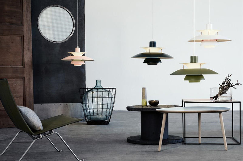 The PH 50 Pendant, designed by Poul Henningsen. PL391