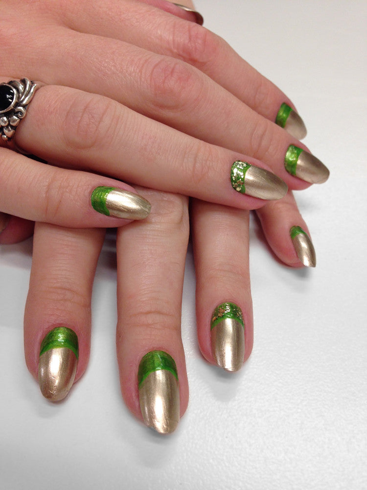 Friday Fun: Gold LED Table Lamp Nail Art