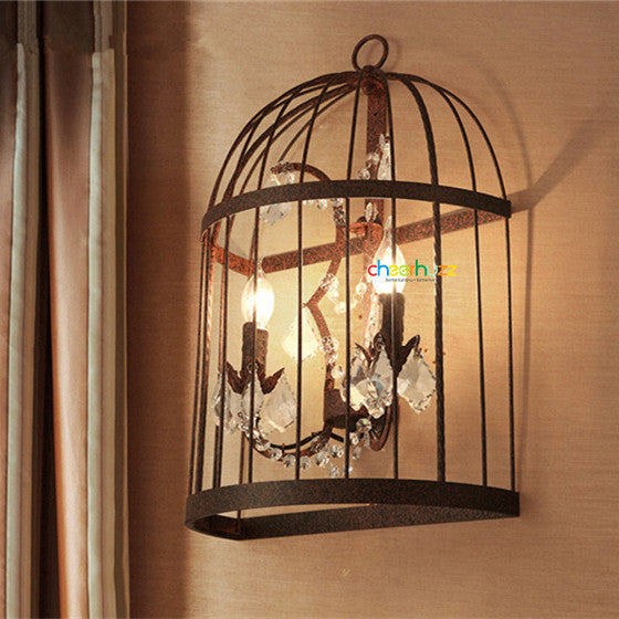 Vintage Birdcage LED Wall Sconce WL182 - Cheerhuzz