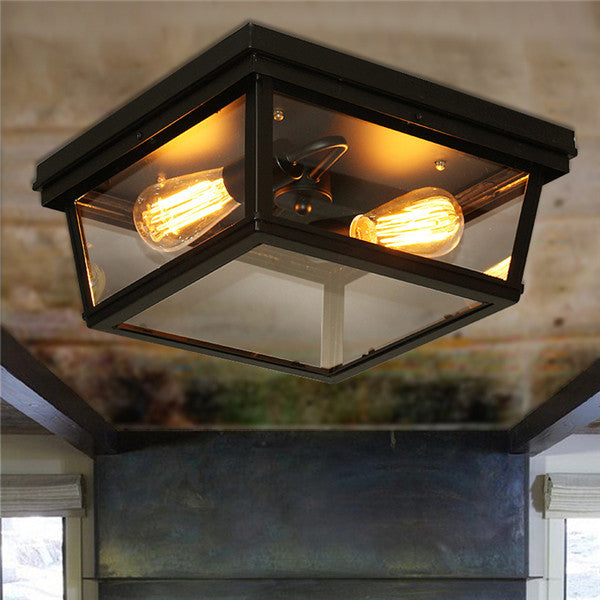 Creative Retro Glass Ceiling Lamp CL143