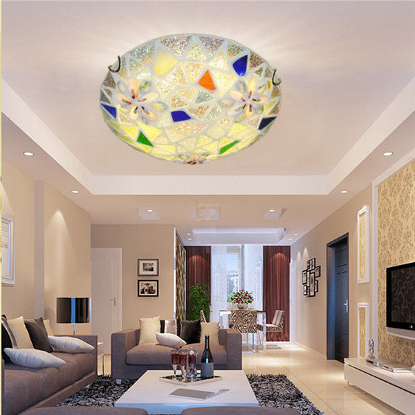 Tiffany LED Flush Mount Ceiling Light CL146 - Cheerhuzz