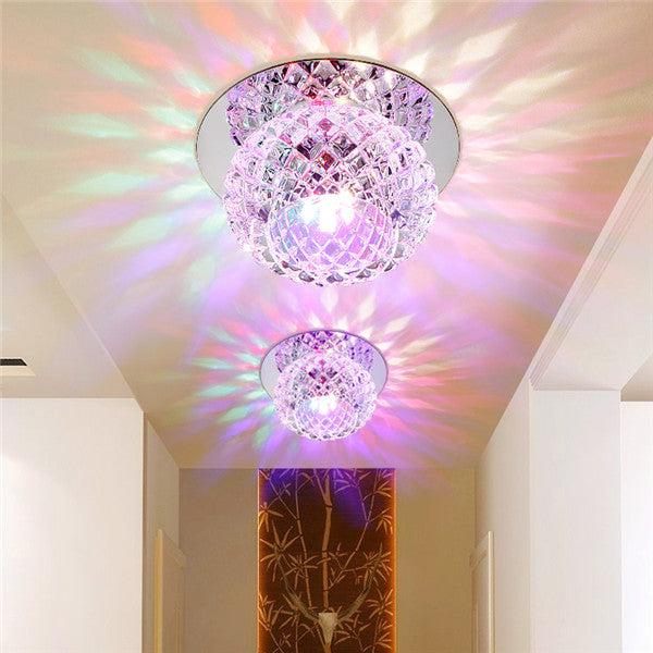 Modern Aisle Lamp 5W LED Crystal Ceiling Light CL166