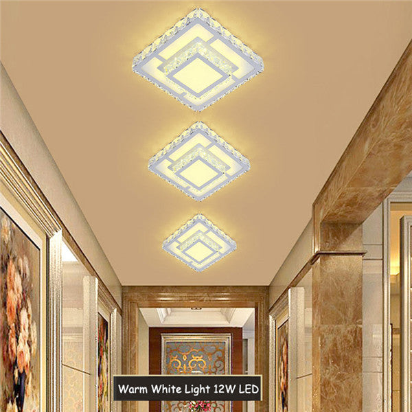 Modern Square LED Crystal Chandelier CL175