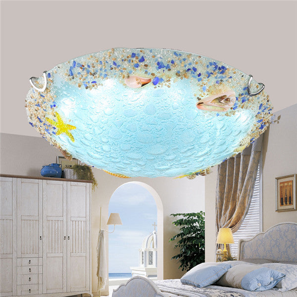Mediterranean Glass Ceiling Lamp CL179 - Cheerhuzz