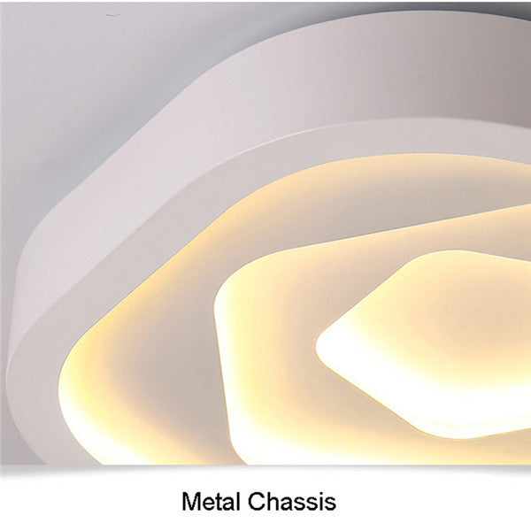 Simple White Metal LED Flush Mount Lamp CL182 - Cheerhuzz