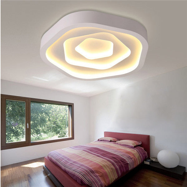 Simple White Metal LED Flush Mount Lamp CL182