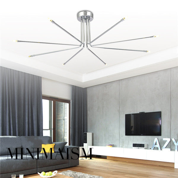 Modern Ceiling Lamp Chrome Chandelier Light CL185 - Cheerhuzz
