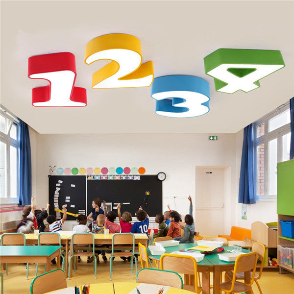 Cartoon Numbers LED Ceiling Lamp CL191