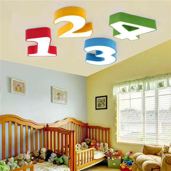 Cartoon Numbers LED Ceiling Lamp CL191 - Cheerhuzz