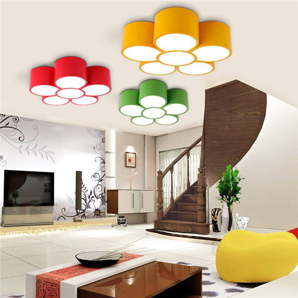 Colorful Flowers Ceiling Light CL193 - Cheerhuzz