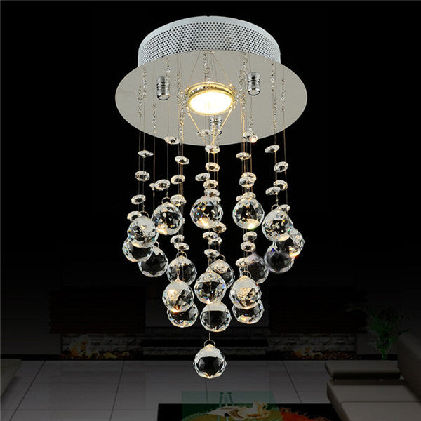 Modern Chrome Crystal Pendant Light CL198 - Cheerhuzz