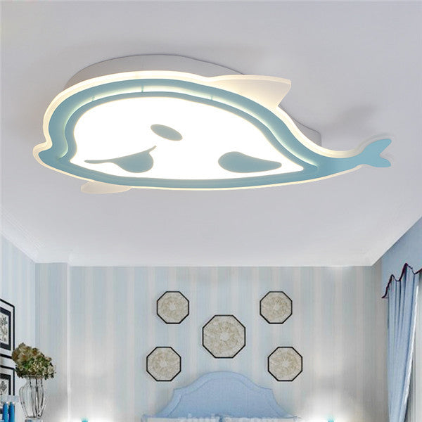 Cartoon Whale LED Acrylic Ceiling Light CL213