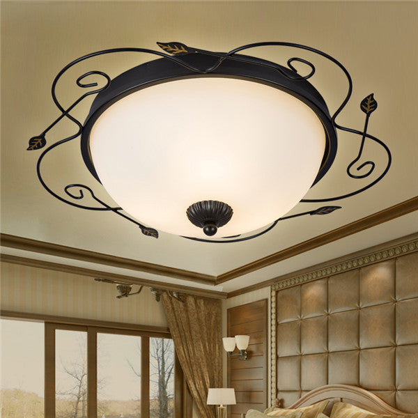 European Art Glass Shade Ceiling Lamp CL217 - Cheerhuzz