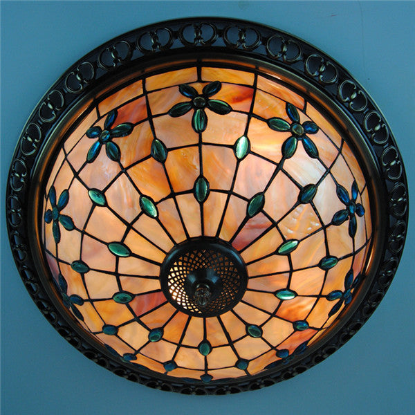 Tiffany Flower Shell Flush Mount Lamp CL218 - Cheerhuzz