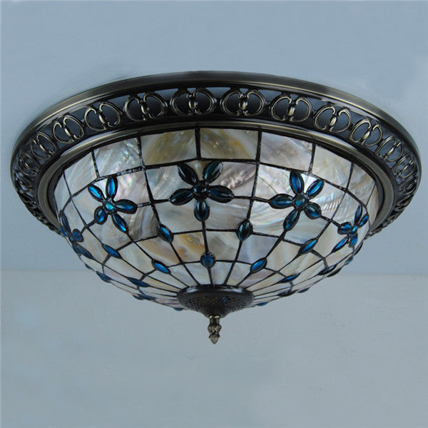 Tiffany Flower Shell Flush Mount Lamp CL218