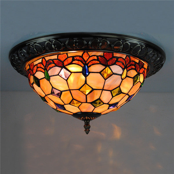 15 Inch Flush Mount Ceiling Light in Tiffany Style CL220 - Cheerhuzz